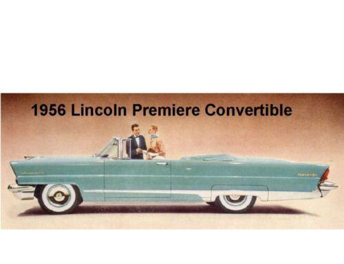 Tool Box  Magnet 1956 Lincoln Premiere Convertible Auto Refrigerator