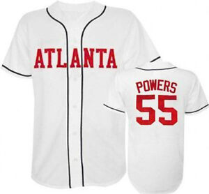 timeless design 43273 d0e06 Details about Kenny Powers Atlanta #55 Baseball Jersey - Eastbound and Down  TV Show