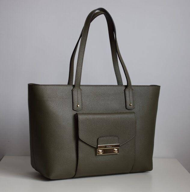 3fa3bbbdb0539 Furla Damen Tasche MODELL Julia echtes Leder Farbe Salvia 890930 ...