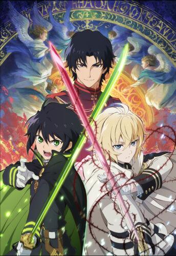 Poster A3 Owari No Seraph Yu Mika Guren Sleeve Anime Poster