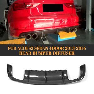 Rear-Bumper-Diffuser-Lip-Spoiler-Carbon-Fiber-Fit-for-Audi-S3-4-Door-2013-2016