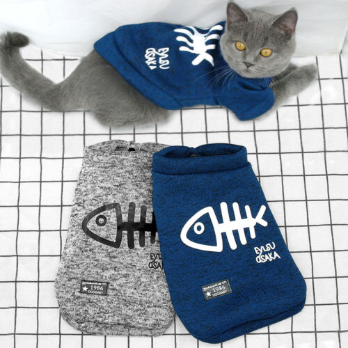 Winter Warm Cat Clothes for Cats Outfit Big Kitten Jacket Coat Soft Kitty Jumper