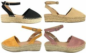 6f824f7af3b Image is loading FIESTA-Women-039-s-Espadrilles-Ankle-Strap-Braided-