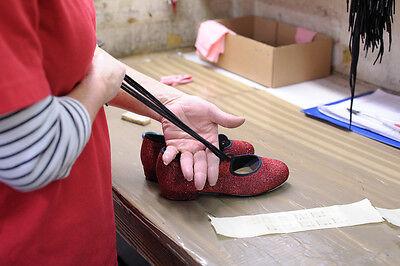 Chicas Damas Rojo Pu Tacón Bajo Tap Dance Zapatos todos los tamaños de Katz Dancewear