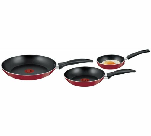 TEFAL Lot de 3 Poêle Set 20 cm 26 cm /& 12 cm antiadhésif Revêtement Cookware Fry casseroles