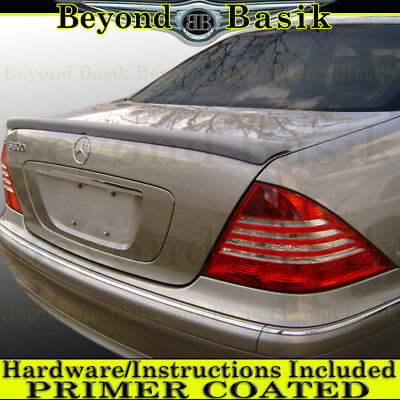 Unpainted Rear Trunk and Roof Spoiler for 2000-2006 Mercedes W220 S-Class Sedan