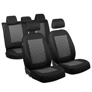 schwarz-graue sitzbezüge für peugeot 206 autositzbezug komplett | ebay