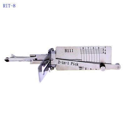 B111 LiShi 2 in 1 Tool Locksmith tools Decoder Lock Plug Reader Car Hand Tools