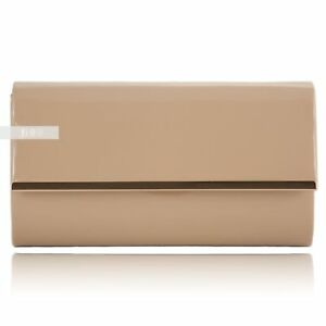 5511be110 New Nude Retro Patent Ladies Party Prom Bridal Evening Clutch Hand ...