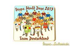 """Metall-Plakette """"Vespa World Days 2013 - Team Deutschland"""" - 100 Stk weltweit! G"""