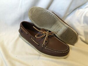 SEBAGO-DOCKSIDES-Brown-Leather-Casual-Boat-Shoes-Mens-Size-9-Made-in-USA
