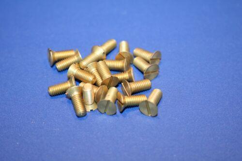 Senkkopfschraube M4x10 Messing 20-100 Stück Schlitzschraube M 4 x 10 DIN 963