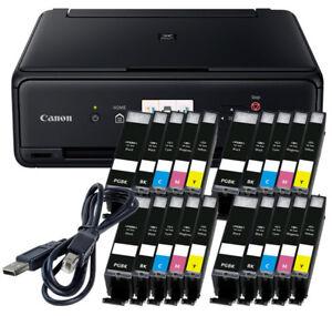 Set-Canon-Pixma-TS5050-DRUCKER-SCANNER-KOPIERER-WLAN-20x-XL-TINTE-USB