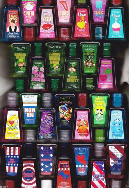 1 Bath & Body Works LTD. ED2 PocketBac Anti-Bacterial Hand Gel Sanitizer U-PICK