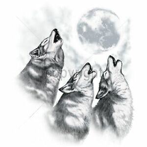3 Wolves Howling At The Moon Animals In The Wild T-Shirt ...