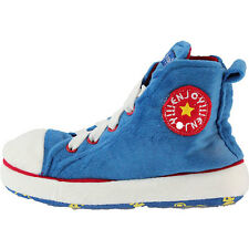 b35b8c05d5f Childrens Kids Chuck Taylor Style Converze Novelty Slippers High Top Laces  UK9-2