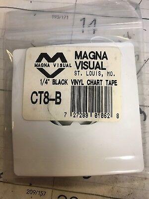 CT4-B MAGNA VISUAL Vinyl Chart Tape,1//8 In W x 27 Ft L,Black Black