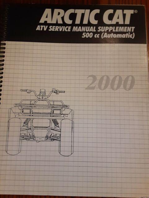 2000 Arctic Cat Atv Service Shop Repair Manual Supplement