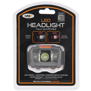 NGT-100-LUMEN-LED-HEAD-LIGHT-TORCH-LAMP-FISHING-HUNTING-LIGHT-WHITE-AND-RED