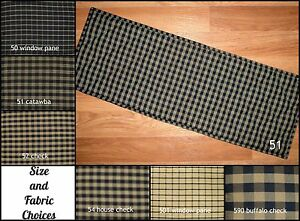 Image Is Loading Black Plaid Quilted Table Runner Placemats Size Options
