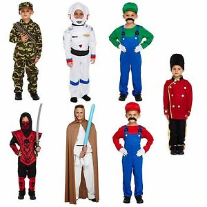 Image is loading Fancy-Dress-Up-Costume-Super-Mario-Jedi-Ninja-  sc 1 st  eBay & Fancy Dress Up Costume Super Mario Jedi Ninja Spaceman Soldier Army ...
