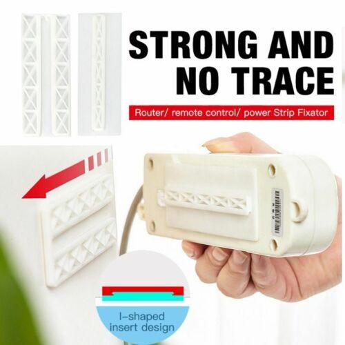 Self Adhesive Wall Mount Power Strip Fixator Punch-Free Seamless Power Strip Hol