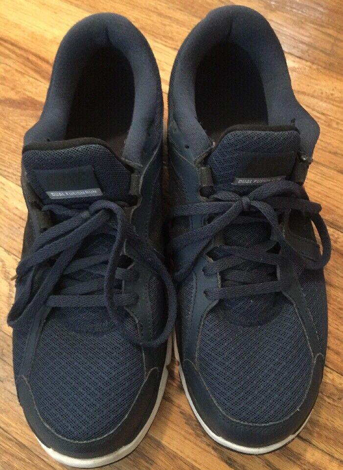 Nike Dual Fusion Run Men's Men's Run Navy-Blue White Running Shoes Size 11 EUC fee186