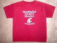 4T boys short sleeve maroon cotton Washington State Cougar t-shirt