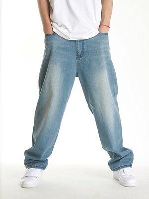 Dirty Money mens baggy camouflage jeans urban hip hop rock skate indigo pants