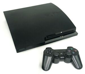 Sony Playstation 3 Ps3 Slim Console With Wireless Controller Cables Ebay