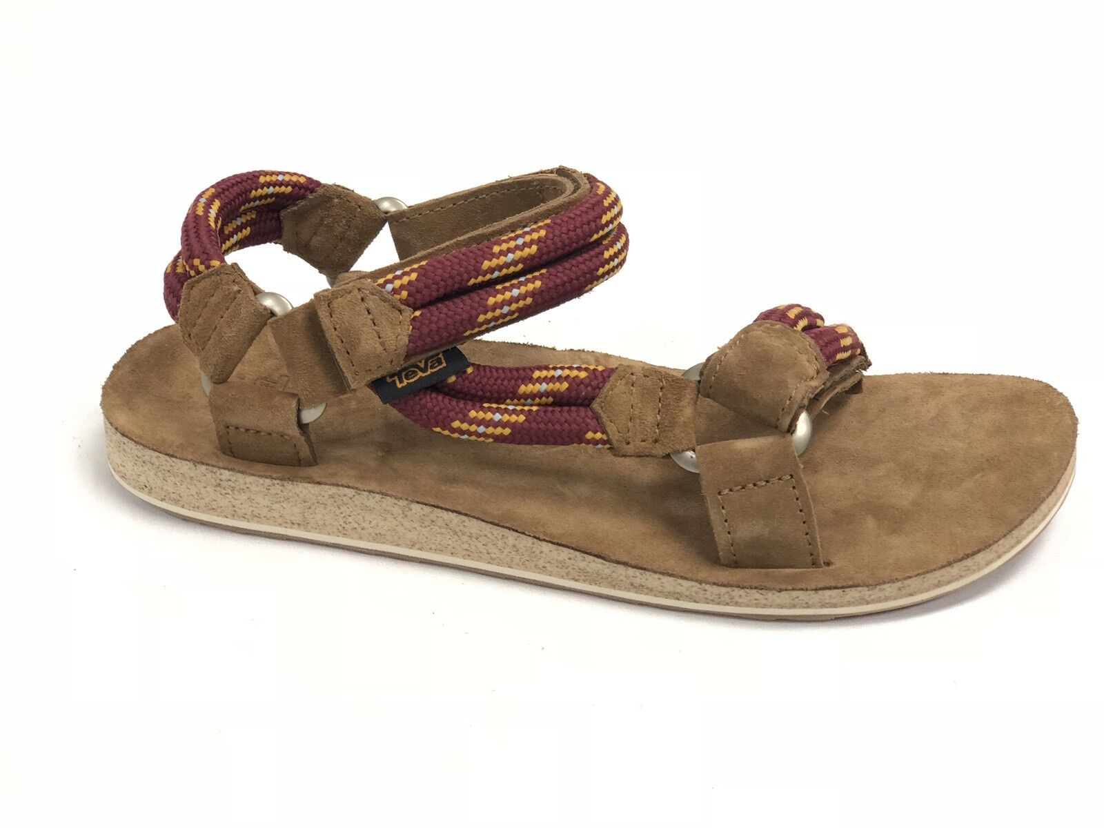 Teva MEN'S Original Universal Rope Suede Footbed Sandals FRIED BRICK 1015189 NEW