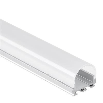 PL6 Nash C3 Aluminium Profil f. LED Streifen 2m + Abdeckung Opal