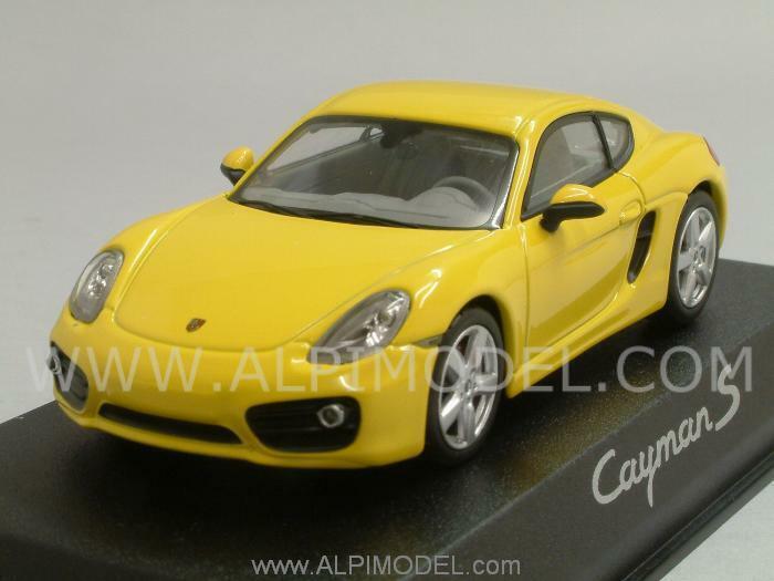 Porsche Cayman S 2012 jaune Porsche Promo 1 43 NOREV WAP0200310D