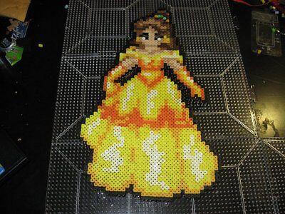 Beauty And The Beast Belle Kandi Perler Rave Edc Plur Disney Hama Wall Art Ebay