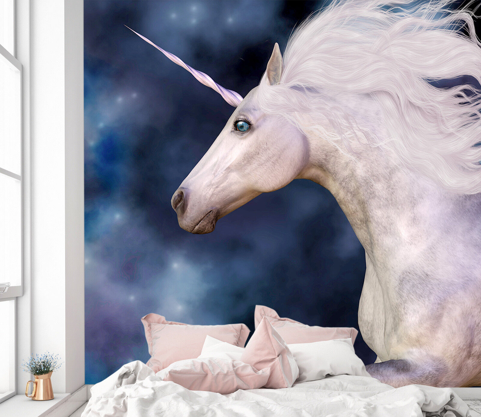 3D Cool Unicorn Starry  9 Wallpaper Mural Print Wall Indoor Wallpaper Murals UK