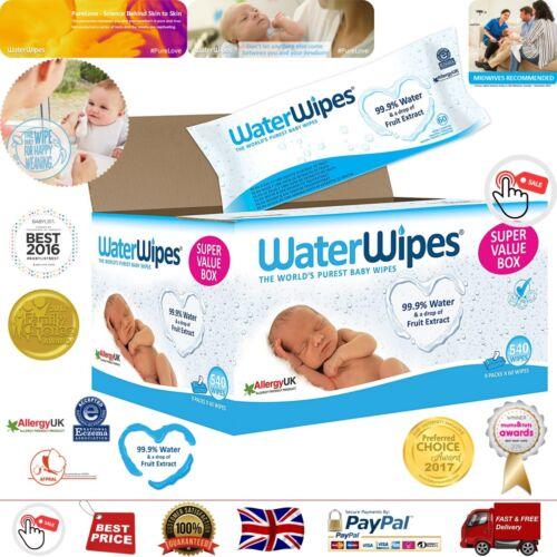 WaterWipes Baby Wipes Sensitive Skin 9 packs x 60 wipes Best Wipes 540 wipes