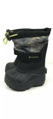 Columbia Toddler/'s Boys Printed Twin Tundra Waterproof Snow Boots Size 5 New Box