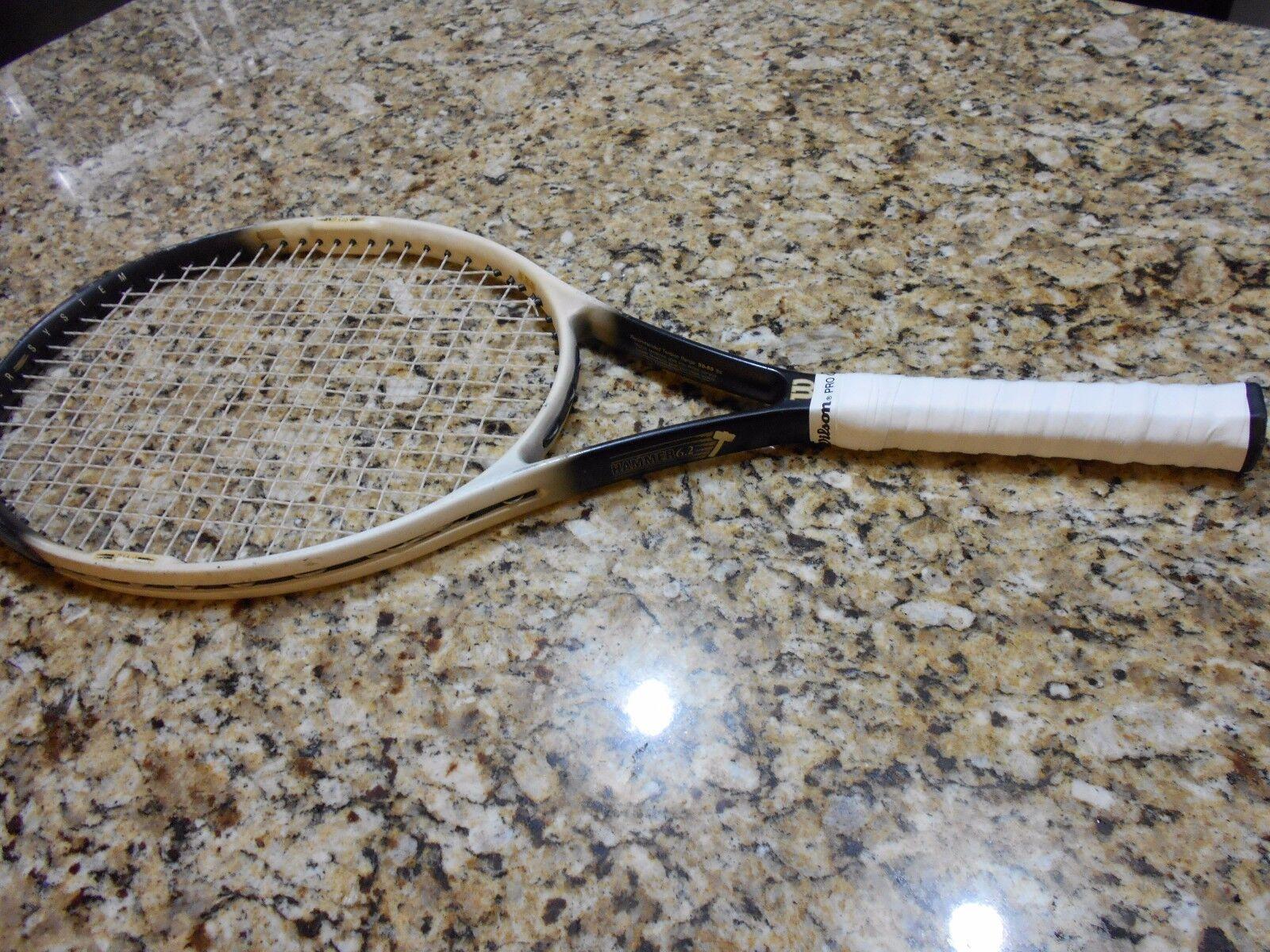 WILSON Hammer System Hammer 6.2 OS Tennis Racquet 110  Head NO2 4 1 4  Grip