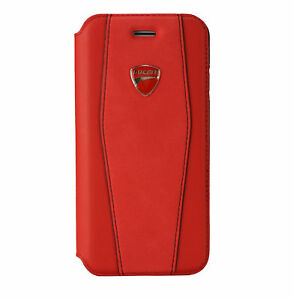 sports shoes 0c634 07138 Details about Ducati Diavel D1 PU Leather Book Case for iPhone X, iPhone Xs  Red