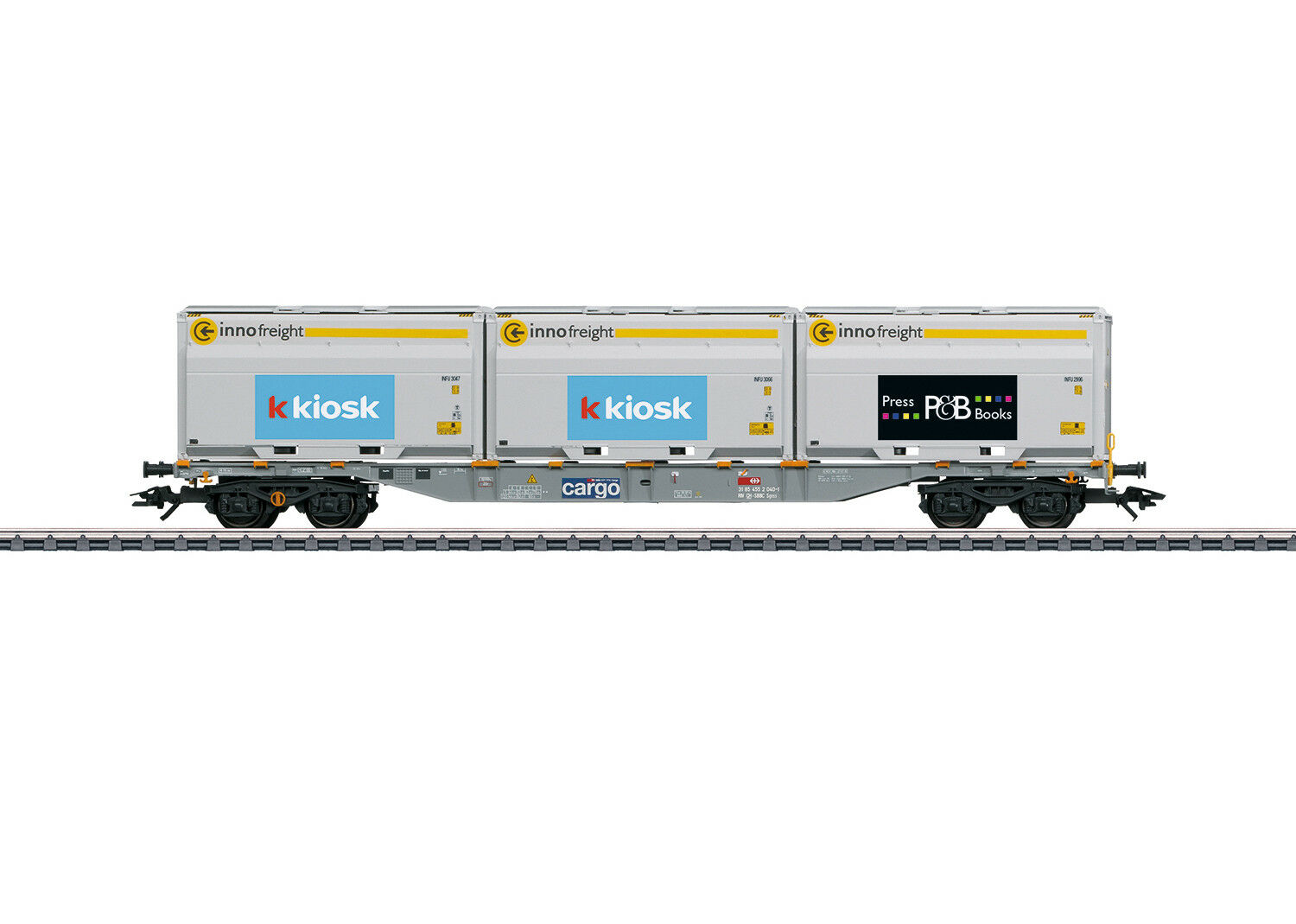 Marklin 47459 SBB Type Sgnss Container Transport Car