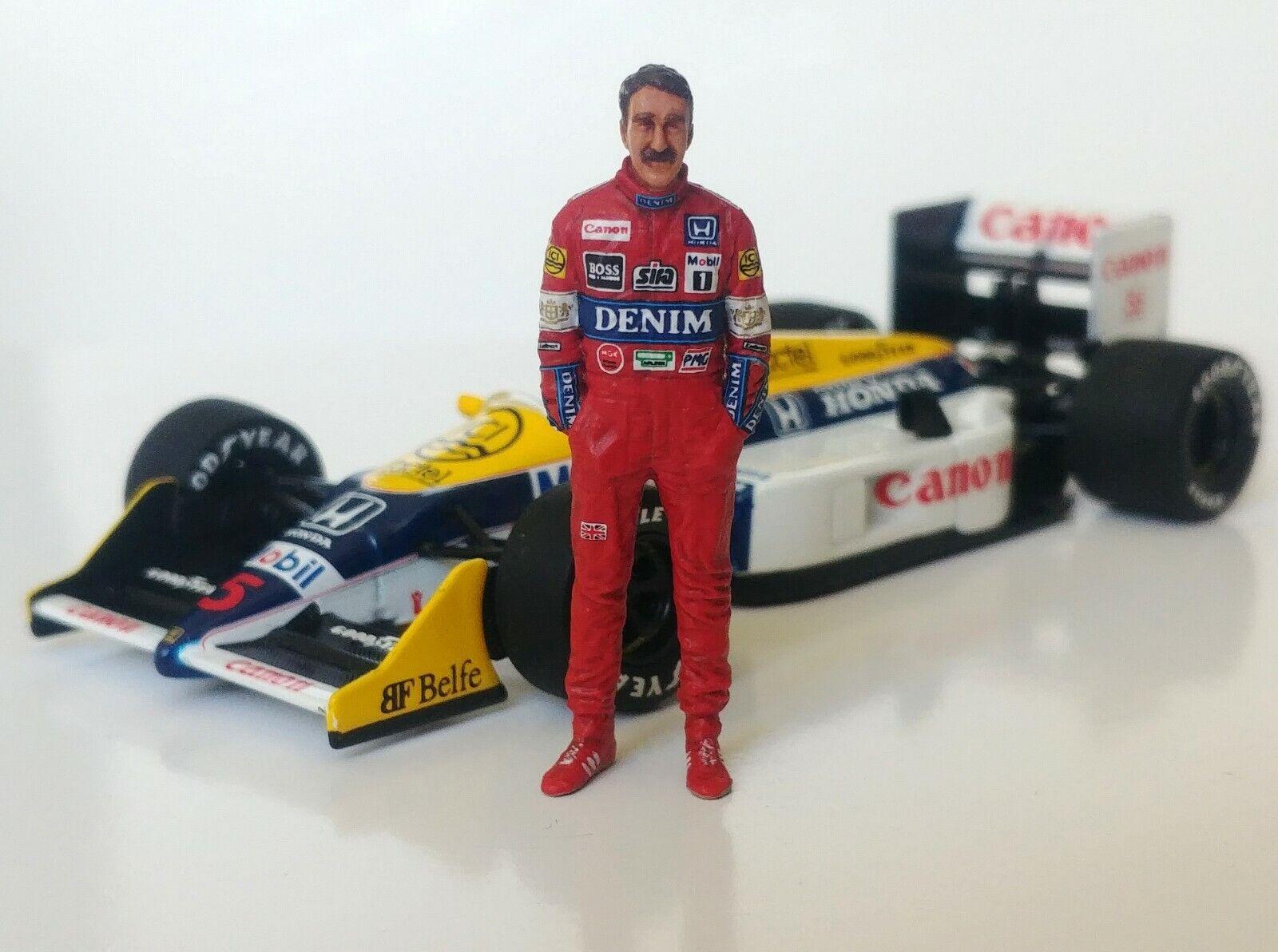 1 43 Nigel Mansell 1987 Williams Honda FW11B figurine figure Standing MFH Hiro