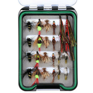Quality Trout Fly Box Assortment 60  Top Bead Head Nymph Trout Flies w//box