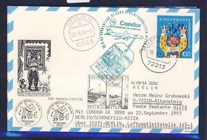 48909-LH-Olympiade-SF-Berlin-Nizza-gt-Monaco-22-9-93-Karte-FDC-Mi-1695