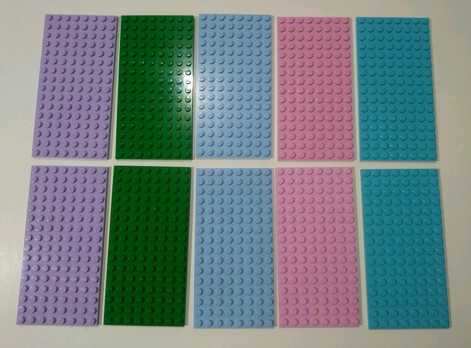 Lego Genuine Lego Base Plate 8 X 16 Choice Of Color 92438 Baseplate