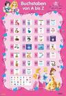 Disney Lernposter: Disney Prinzessinnen - Buchstaben von A b (2015, Poster)