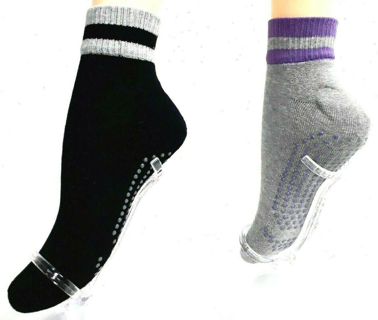 2 Paar Damen Yoga-Wellness Socken, Gr. 35-42, Baumwolle