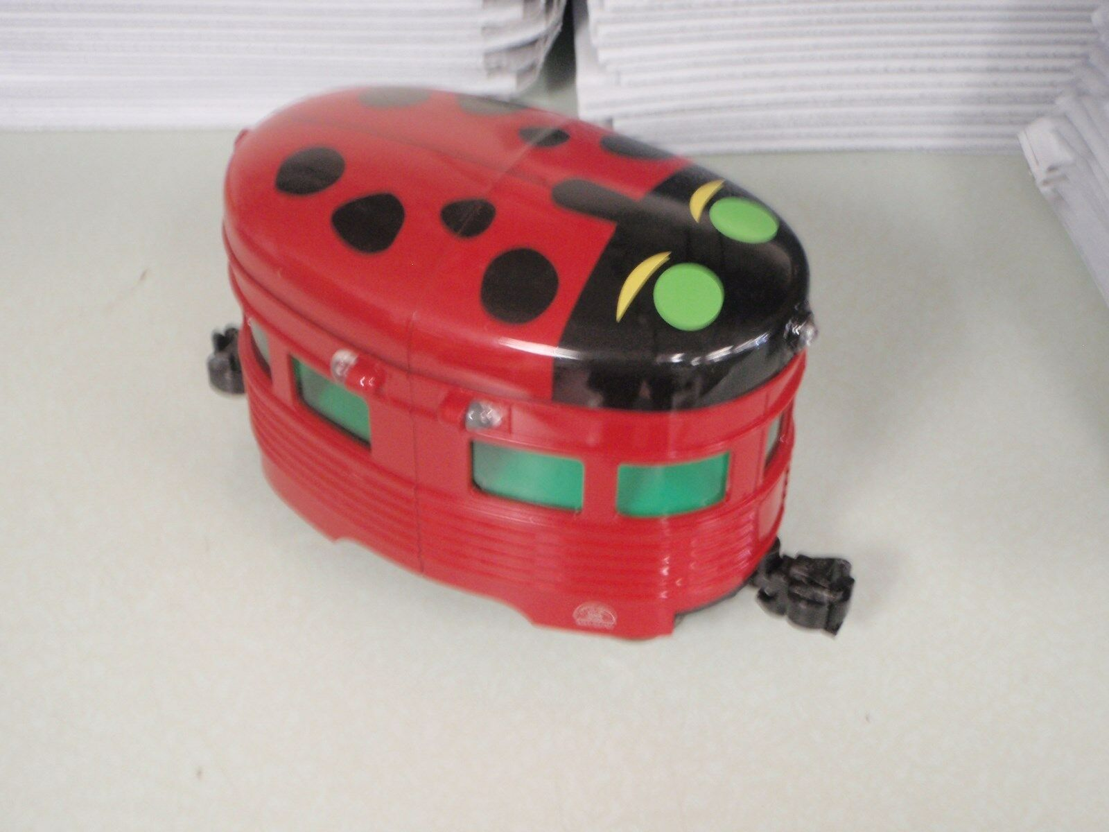 ARISTO CRAFT EGGLINER ART-22707 LADY BUG LIGHTED G SCALE 1;29 RED TRAIN