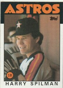 FREE-SHIPPING-MINT-1986-Topps-352-Harry-Spilman-Astros-PLUS-BONUS-CARDS