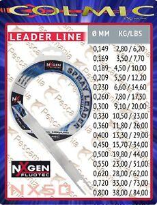 Monofilo-terminale-Colmic-NXgen-Fluotec-Spray-Leader-mt-50