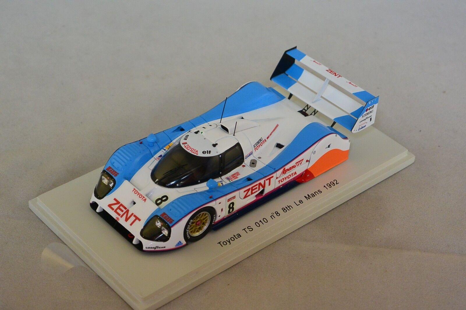 Spark S2365 - TOYOTA TS 010 n°8 8ème Le Mans 1992 Lammers- Fabi- Wallace 1/43